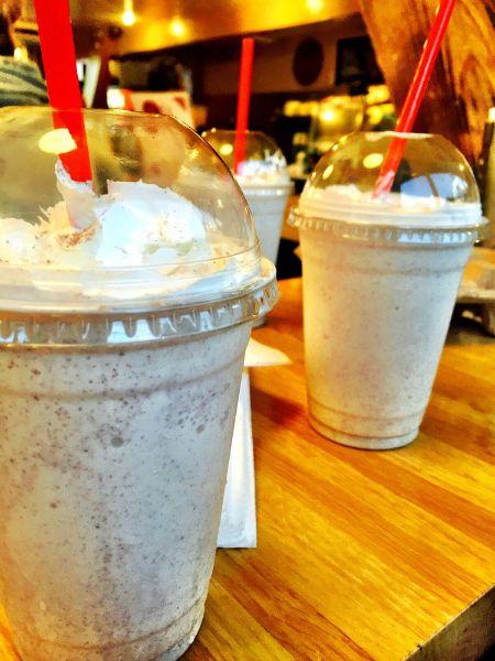The Oinkseter's horchata milkshakes
