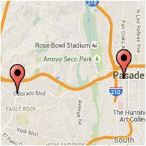 Map: Eagle Rock Boulevard to Fair Oaks Avenue