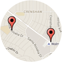 Map: MLK Blvd to Santa Rosalia Dr
