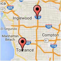 Map: Carson Street to Figueroa Street