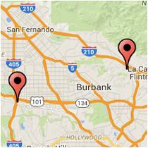 Map: La Crescenta Ave to Sepulveda Blvd
