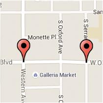 Map: Olympic Boulevard to Serrano Avenue