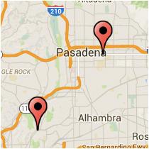 Map: Monterey Road to Colorado Boulevard