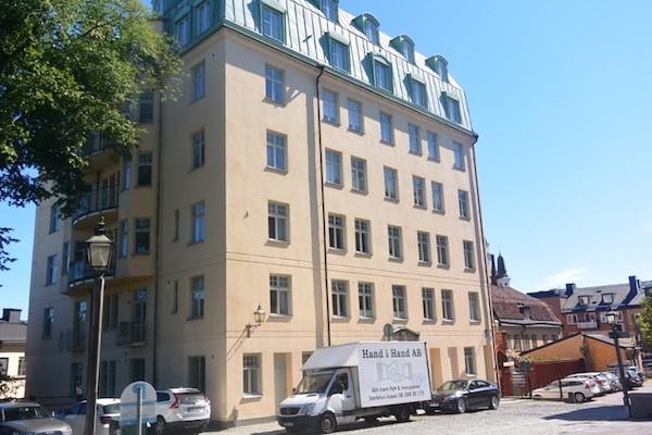 Fiskargatan 9 in Södermalm, Stockholm, where the character Lisbeth Salander lives.