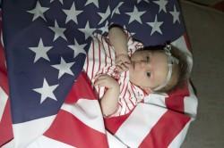 Mathews flag baby
