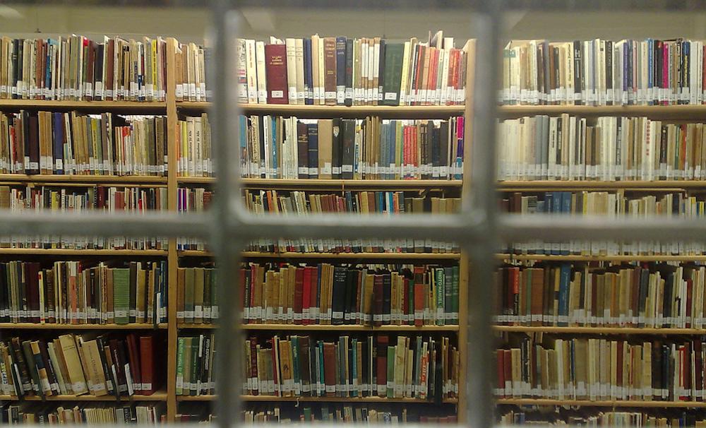 book prize library shelves