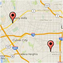 Map: Western Ave to Santa Monica Blvd