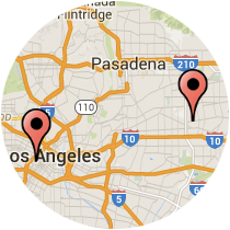 Map: Figueroa St to Lower Azusa Rd