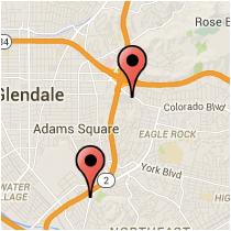 Map: Sierra Villa Drive to Avenue 35