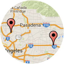Map: Eagle Rock Blvd to Santa Anita Ave