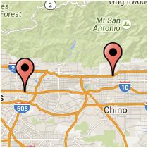 Map: Monte Vista Ave to Ramona Blvd