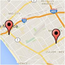 Map: Pico Boulevard to Venice Boulevard