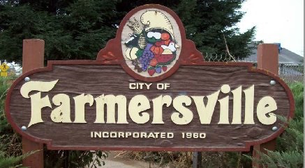 Gomez Farmersville sign