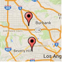 Map: Fairfax Avenue to Chandler Boulevard