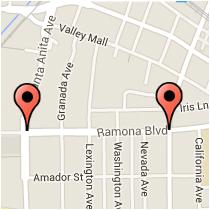 Map: Ramona Boulevard to Santa Anita Avenue