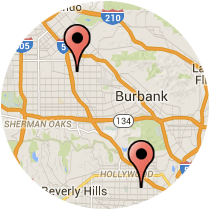 Map: Laurel Canyon Boulevard to Western Avenue
