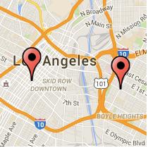 Map: Broadway to Soto Street