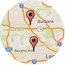 Map: Fairfax Avenue to Lankershim Boulevard