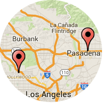 Map: Lave Avenue to Hollywood Boulevard