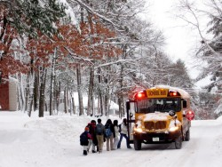 Evenson school bus snow