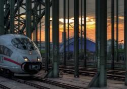 Mathews Germany rail sunset
