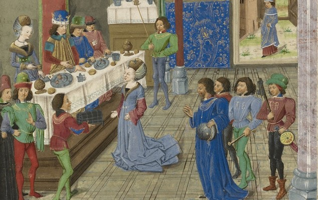 Why Aren't People Eating in Medieval Depictions of Feasts?