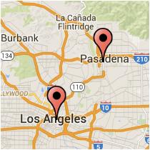 Map: Raymond Avenue - Alameda Street