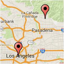 Map: Olive Street - Altadena Drive