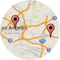 Map: Pomona Boulevard - Alameda Street