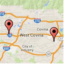 Map: Grand Avenue to Santa Anita Avenue