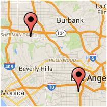 Map: Ventura Boulevard - Figueroa Street