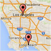 Map: Figueroa Street - 1st Street