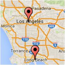 Map: Figueroa Street - Ocean Boulevard