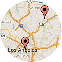 Map: Avenue 57 - Alameda Street