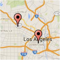 Map: Beverly Boulevard - 5th Street