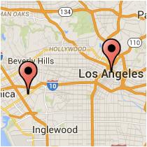 Map: Spring Street - Venice Boulevard