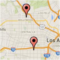 Map: Selma Avenue - Adams Boulevard