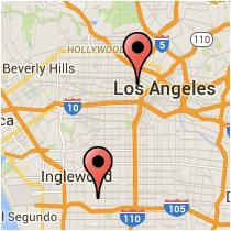 Map: Alvarado Street - Crenshaw Boulevard