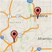 Map: Del Mar Boulevard - Pasadena Avenue