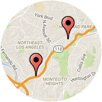 Map: Pasadena Avenue - Avenue 57