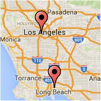 Map: 8th Street - Long Beach Boulevard