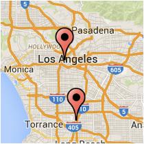 Map: Figueroa Street - Santa Fe Avenue