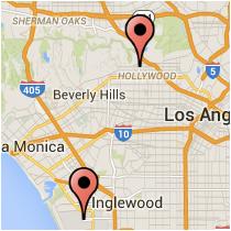 Map: Yucca Street - 96th Street