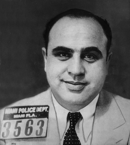 Al Capone, the most famous American gangster.