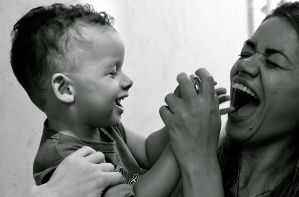 The author's sister-in-law with her son, Matheus.