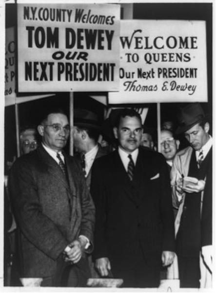 Dewey campaigns in 1948.