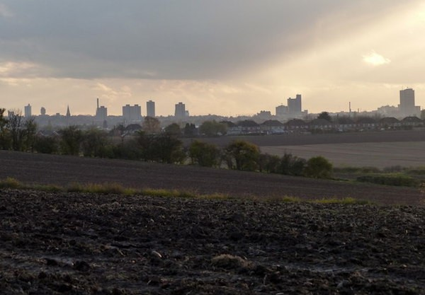 The Leicester skyline, a hundred miles from London.