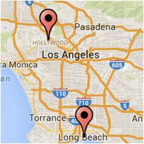 Map: Hollywood Boulevard - 1st Street
