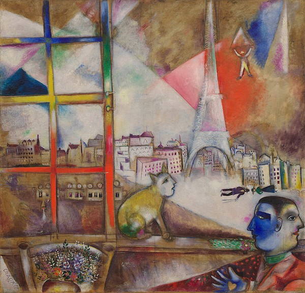 """Paris Through the Window"" by Marc Chagall, 1913"