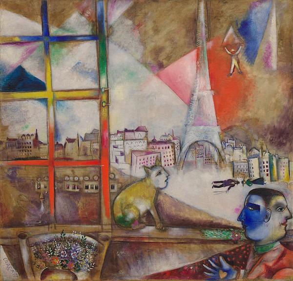 """Paris Through the Window"" by Marc Chagall, 1913"